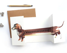 Sausage Dog Panorama Card