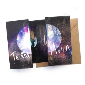 To The Moon and Back Panorama Card