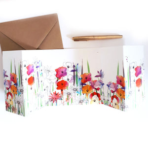 Wild Flowers Panorama Card