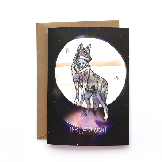 A6 Moon Animal Cards