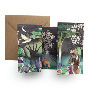 Woodland Animals Panorama Card