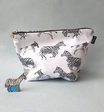 Black and White Zebras Cotton Pouch