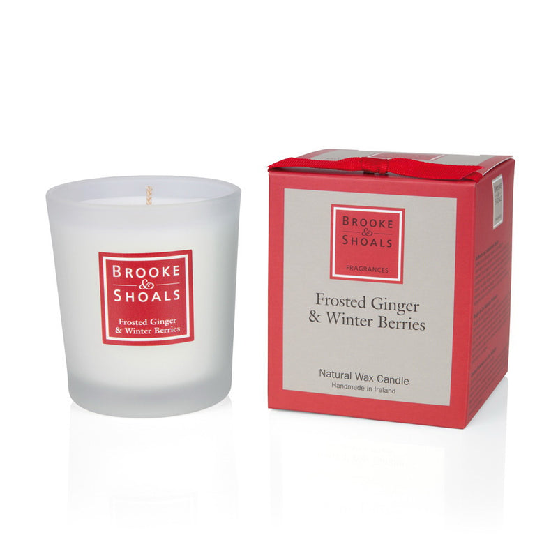 Natural Wax Candle - Frosted Ginger & Winter Berries
