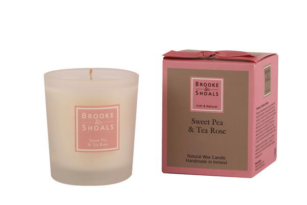 Natural Wax Candle - Sweet Pea & Tea Rose