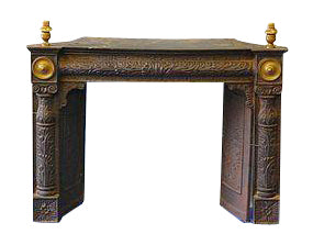 Astounding American Federal Cast Iron And Brass Fireplace Insert Antiques Furnishings Architectural Interior Download Free Architecture Designs Pushbritishbridgeorg