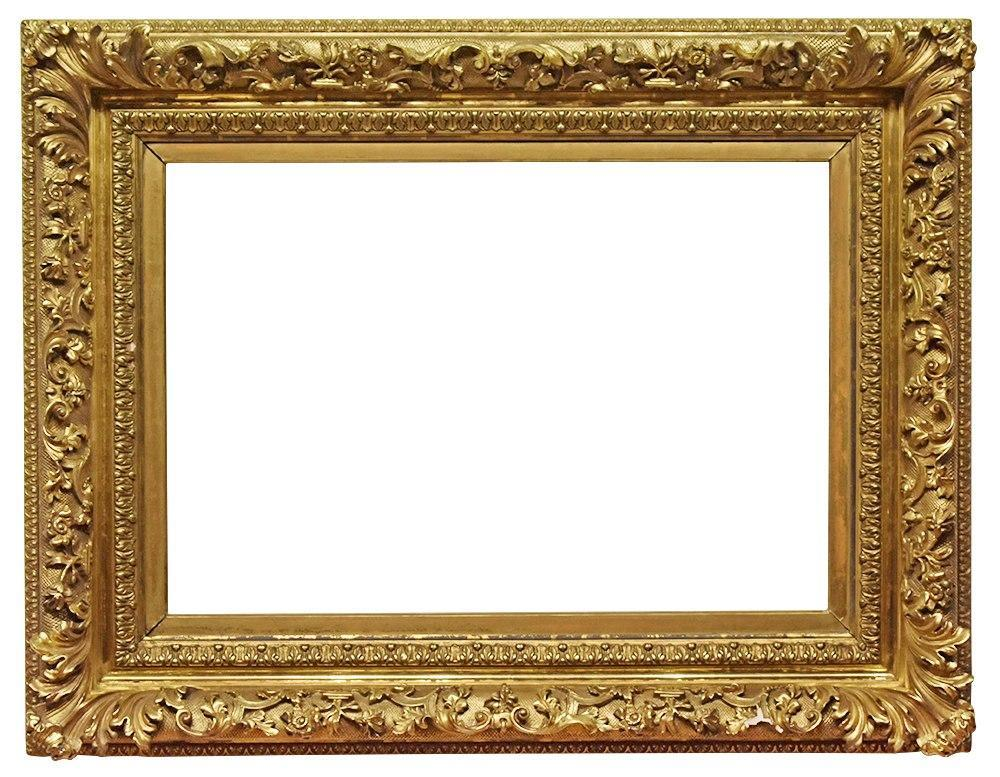 21x31 Antique Picture Frame Large Gold Period 1800s 19th