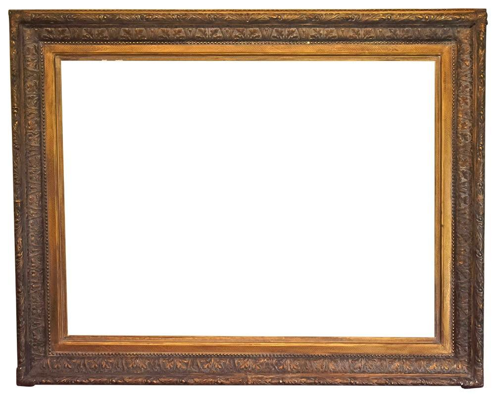 Antique Picture Frame 40x53.5 Large Gold Vintage Period 1800s 19th ...