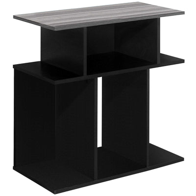 "11'.75"" x 23'.75"" x 23'.75"" Black, Grey, Particle Board, Laminate - Accent Table"
