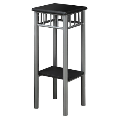 "12"" x 12"" x 28"" Black, Silver, Mdf, Metal - Accent Table"