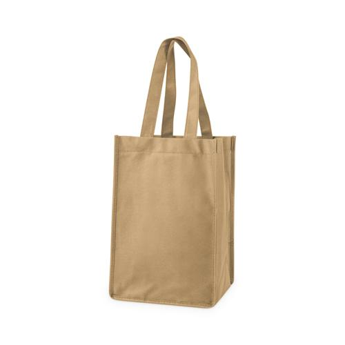 4 Bottle Non Woven Tote In Beige By True Non-Woven Totes True Default Title