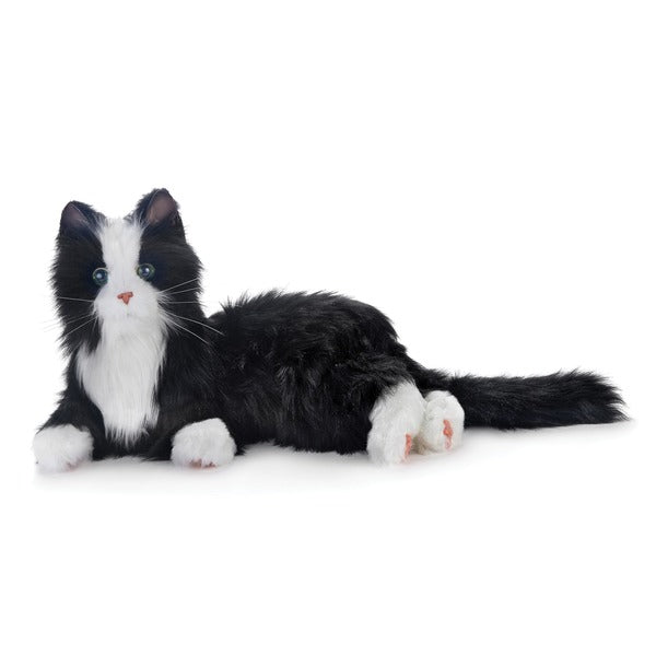 Joy For All Companion Pets A23085L00 Companion Pet Cat With 5 Languages On Box (Black And White Tuxedo)