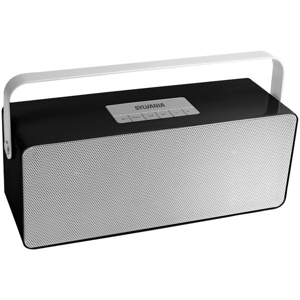 SYLVANIA SP672-BLACK Portable Bluetooth Speaker with Aluminum Handle (Black)-Bluetooth Speakers-Unbox Shopping Network