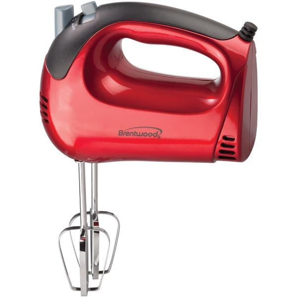 Brentwood Appliances Hm-46 5-Speed Electric Hand Mixer (Red) Mixers BRENTWOOD(R) APPLIANCES