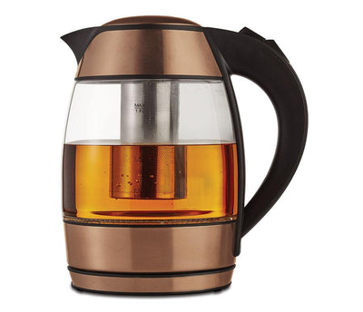 Brentwood Appliances Kt-1960Rg 1.8-Liter Cordless Glass Electric Kettle With Tea Infuser (Rose Gold) Tea Kettles BRENTWOOD(R) APPLIANCES