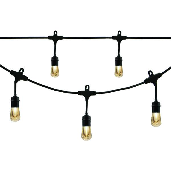Enbrighten Cafe Vintage 35631 Vintage Led Cafe Lights (48Ft; 24 Acrylic Bulbs) Other Outdoor Lighting ENBRIGHTEN CAFE(R) VINTAGE