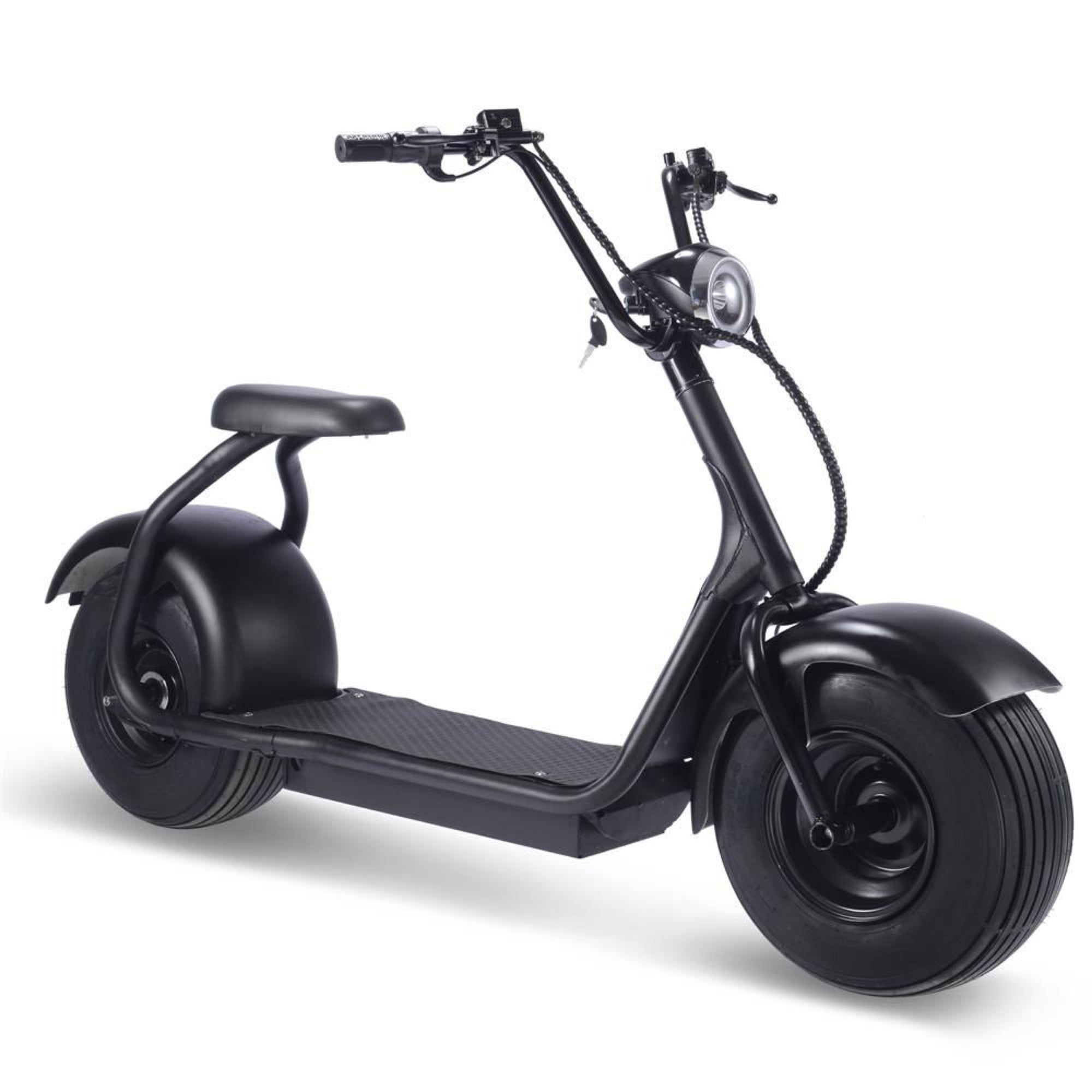 Fat Tire 60v 18ah 2000w Lithium Electric Scooter Black Battery Operated Riding Toy Mototec