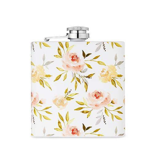 Garden Party™: 6 Oz Rose Flask By Twine®