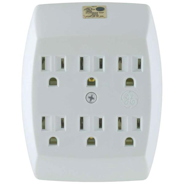 Ge 54947 6-Outlet Grounded Wall Tap Surge Protectors GE(R)