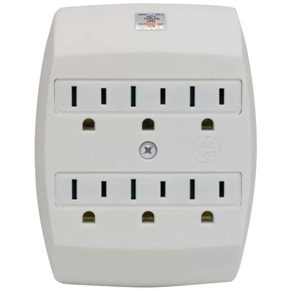 Ge 55200 6-Outlet Saf-T-Gard Grounded Wall Tap Surge Protectors GE(R)