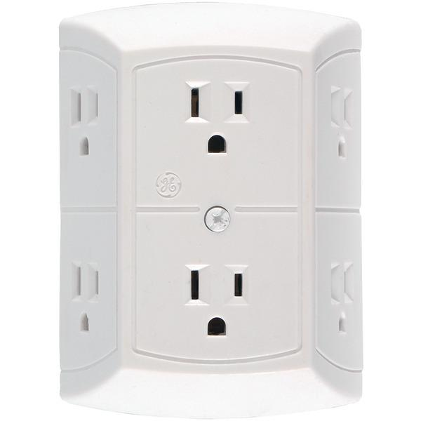 Ge Jashep50759 6-Outlet In-Wall Adapter Surge Protectors GE(R)
