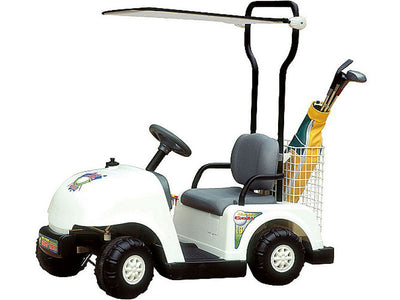 Junior Golf Cart 6v White Battery Operated Riding Toy NPL