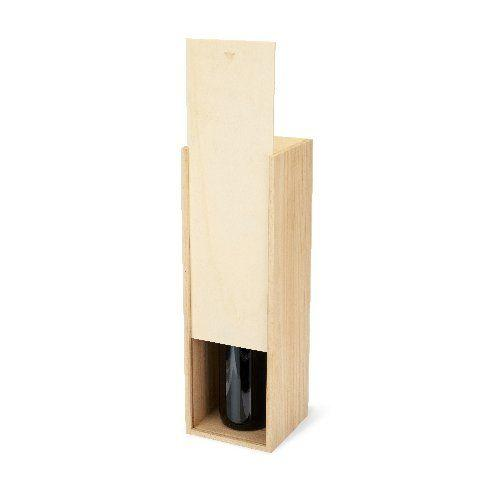 Marketplace™ Magnum Wooden Wine Box By Twine® Wood & Leather Gift Boxes Twine
