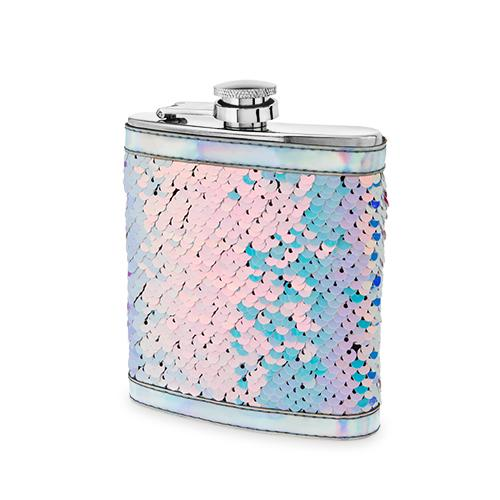 Splash: Mermaid Change Sequin Captive Flask By Blush