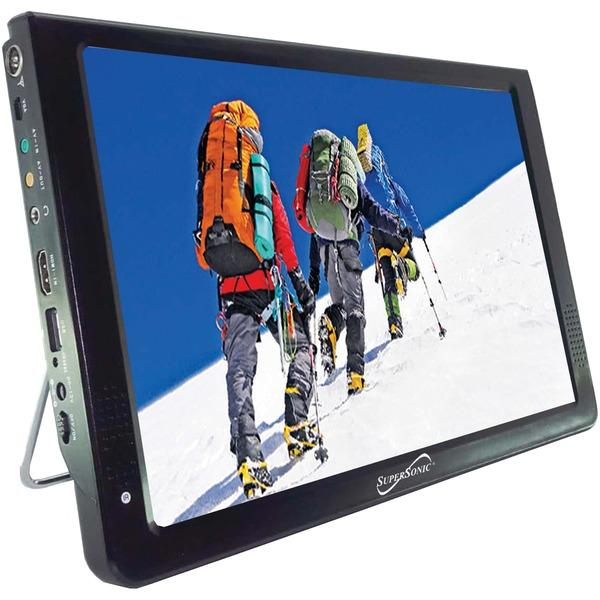 "Supersonic Sc-2812 12"" Portable Lcd Tv, Ac/Dc Compatible With Rv/Boat LCD TVs SUPERSONIC(R)"