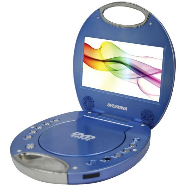 "Sylvania Sdvd7046-Blue 7"" Portable Dvd Player With Integrated Handle (Blue) DVD Players SYLVANIA(R)"