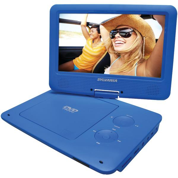 "Sylvania Sdvd9020B-Blue 9"" Portable Dvd Player With 5-Hour Battery (Blue) DVD Players SYLVANIA(R)"