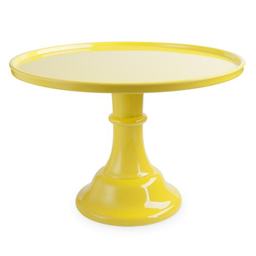 Yellow Melamine Cake Stand Cake Stands Cakewalk (Party) Default Title