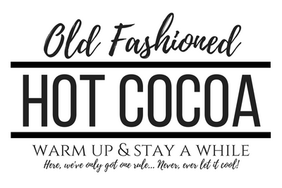Old Fashioned Hot Cocoa Sign