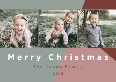 Merry Christmas – Color Block Horizontal
