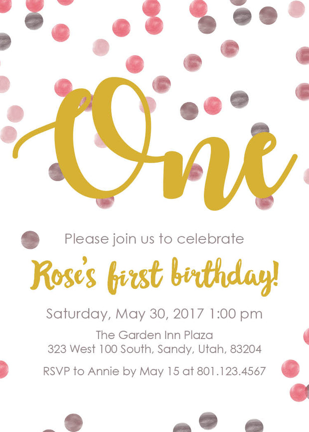 Dot Birthday Invitation