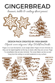 Gingerbread Decor Kit