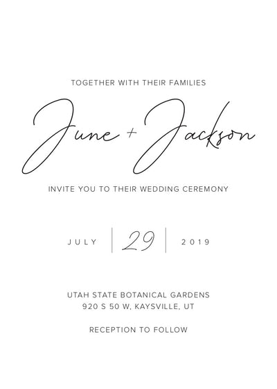 Minimal Sophistication Wedding Invitation