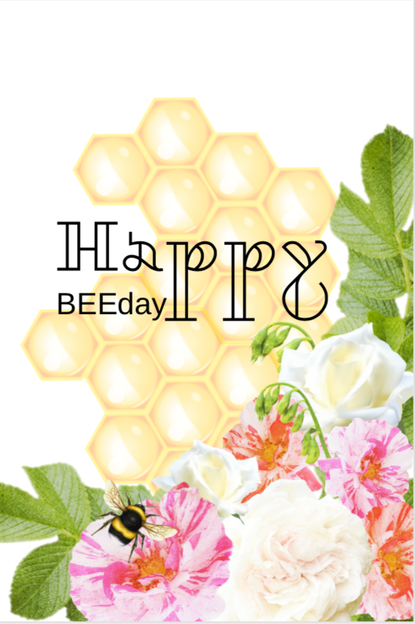 Happy BEE Day Sign