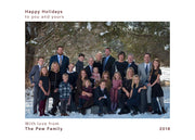 Happy Holidays – Simple Maroon – Horizontal