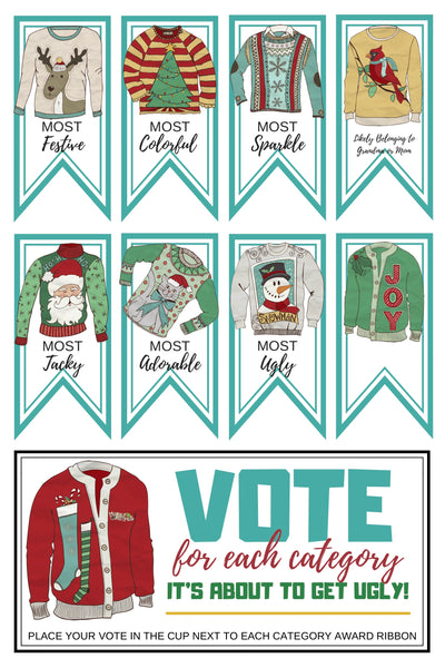 Ugly Sweater Party Decor Pack