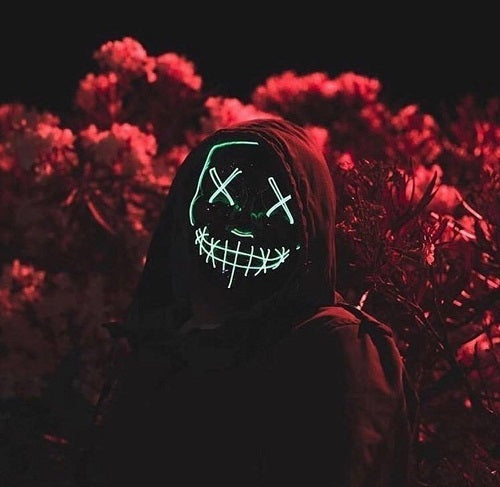 (Hot selling 50,00 items )[60% OFF] - Halloween LED Purge Mask
