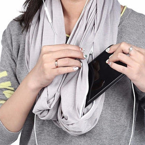 New Year Sale[70% OFF] - Multi-Use Pocket Scarf with Zippers