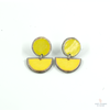 Disc Stud Earring - Yellow