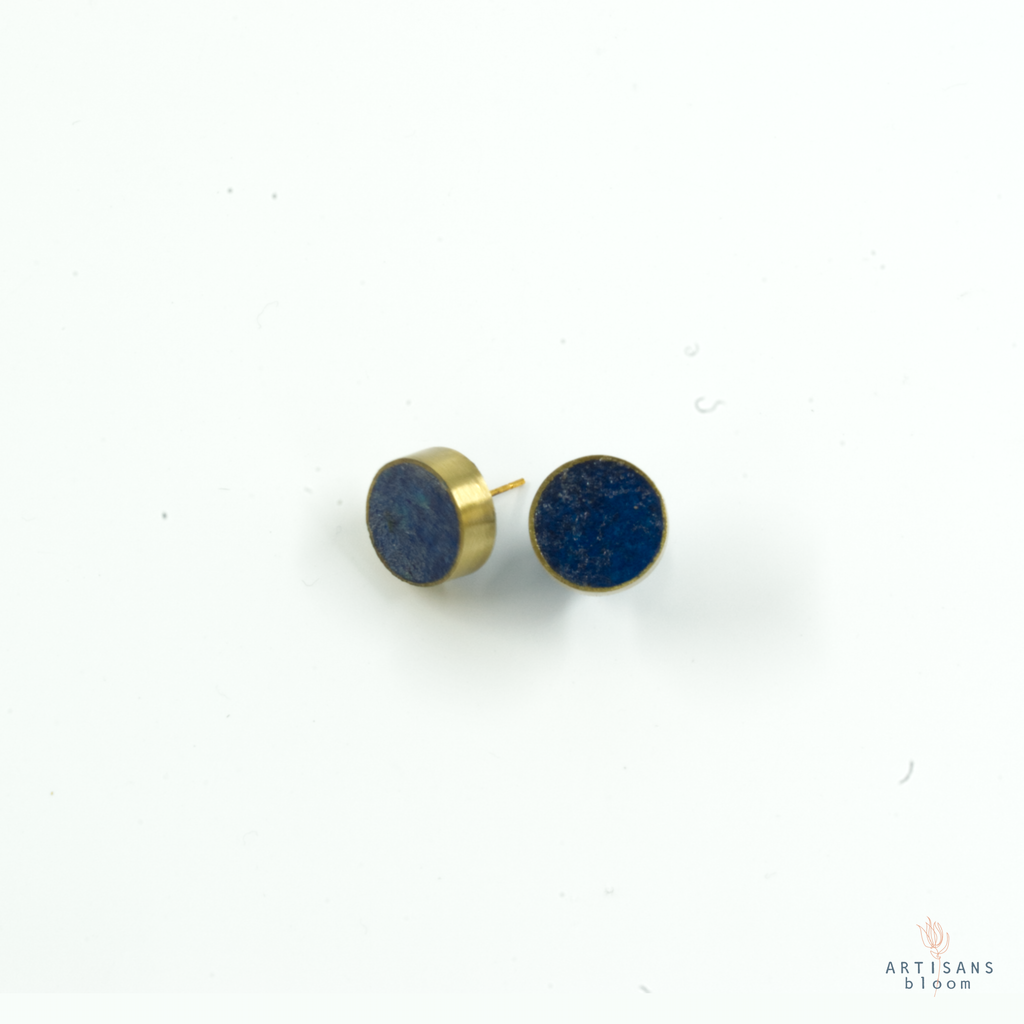 Pulp Stud Earrings - Indigo
