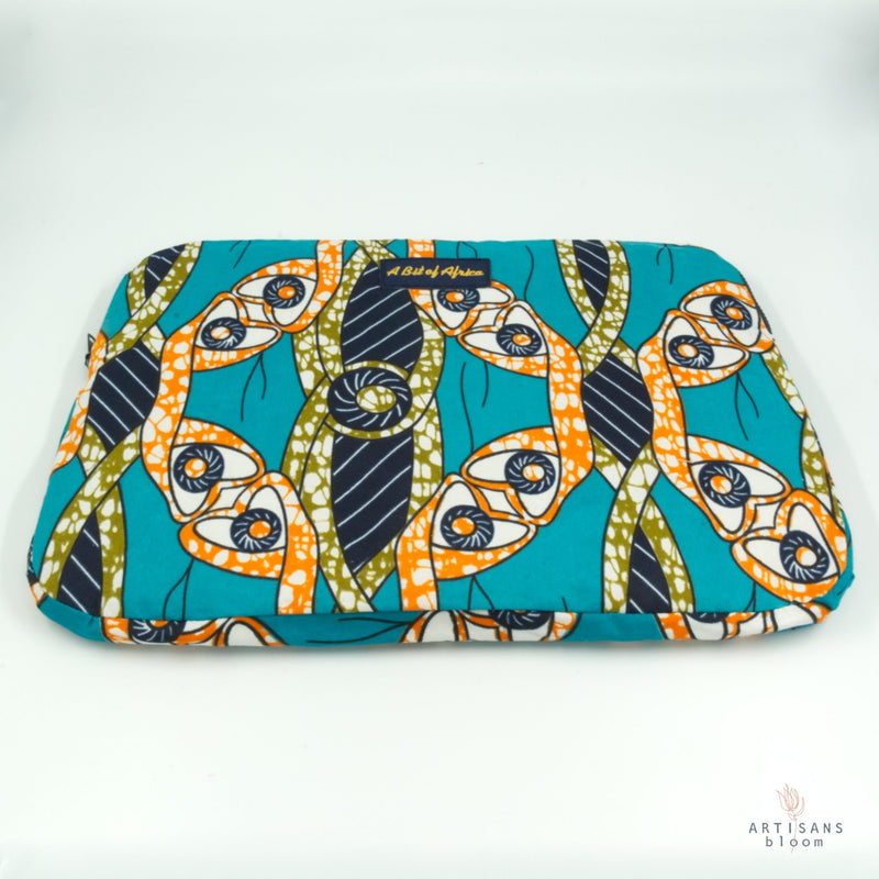 African Wax Fabric Computer Bag - Artisans Bloom