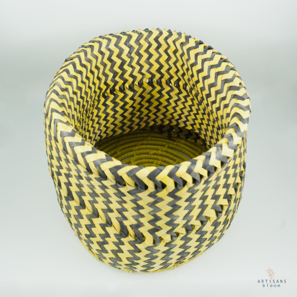 Black and Gold AmaNiceNice Basket - Medium - Artisans Bloom