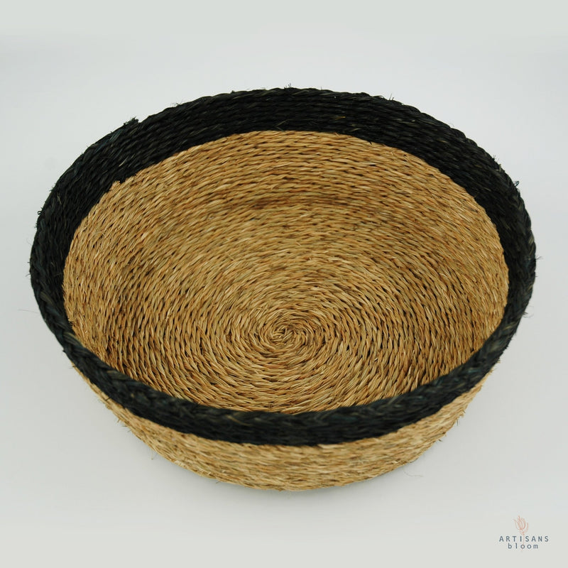 Black Trim Basket - 25cm - Artisans Bloom