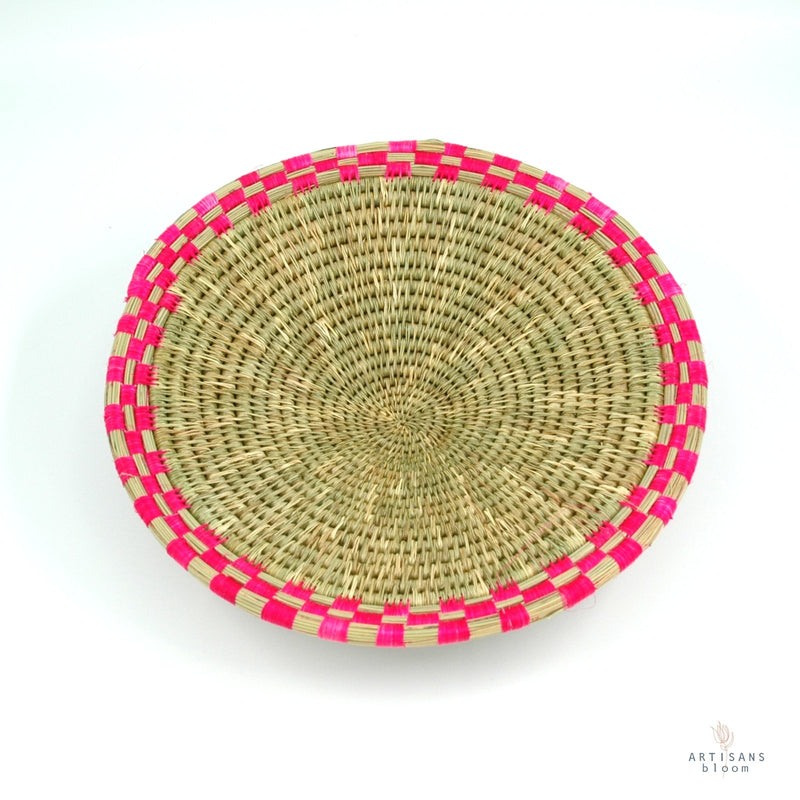 Block Weave Basket - Pink - Artisans Bloom