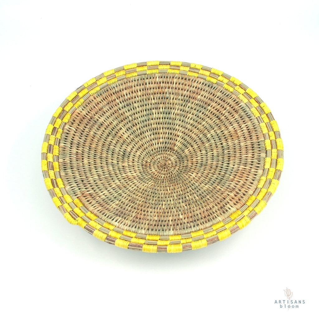 Block Weave Basket - Yellow - Artisans Bloom
