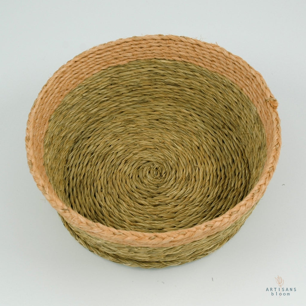 Blush Trim Basket - 18cm - Artisans Bloom
