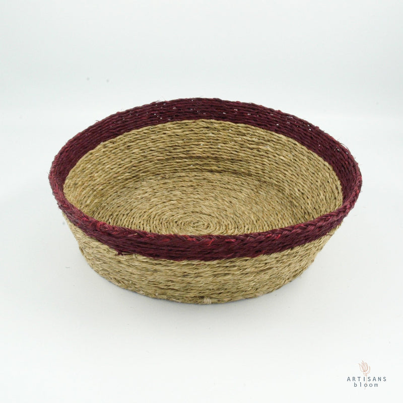 Bordeaux Trim Basket - 25cm - Artisans Bloom